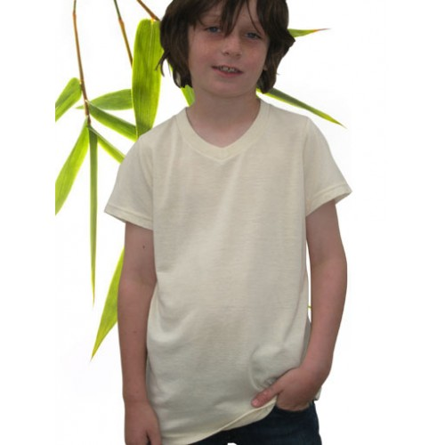 Boys V-neck Hemp T-shirt