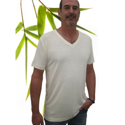 Mens SS V-neck Hemp T-shirt